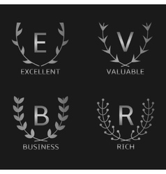 Silver award symbols vector