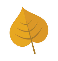 simple cordate leaf graphic vector image