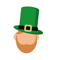 st patricks day face leprechaun vector image