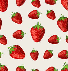 strawberry fruit on a white background seamless vector image