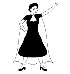 superwoman cartoon character sketch vector image