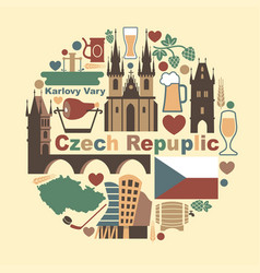 Symbols of the czech republic vector