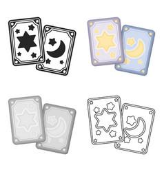Tarot cards icon in cartoon style isolated on vector