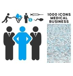 Team Icon with 1000 Medical Business Symbols vector image