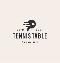 tennis table hipster vintage logo icon vector image