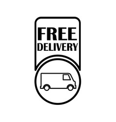 Thin line free delivery icon vector