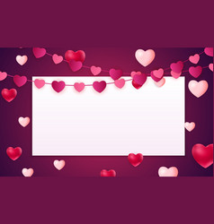 valentines day love background template with vector image