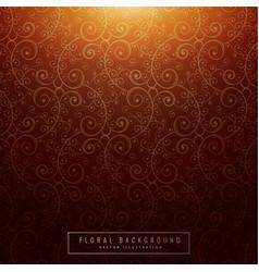 vintage orange floral background vector image