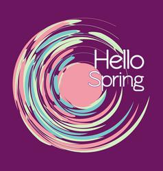 vintage postcard-hello spring vector image