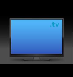 watch tv on dark backgroundl vector image