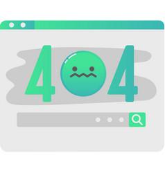 Website error web alert failure page icon vector