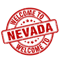 Welcome to nevada red round vintage stamp vector