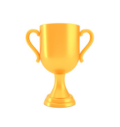 winner cup award golden trophy logo isolated on vector image
