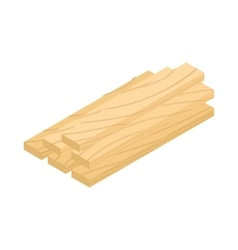 Wood planks icon isometric 3d style vector image