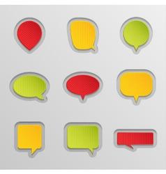 Bubbles for speech set vector image