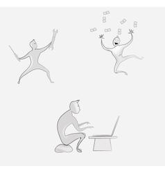 Cartoon men vector image vector image
