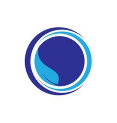 Circle leaf logo image vector