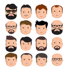 men male human face vector image