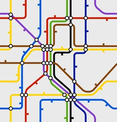 Seamless background of metro scheme vector image vector image