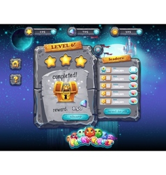 user interface for computer games and web design vector image vector image