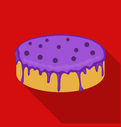 bilberry cake icon in flate style isolated on vector image