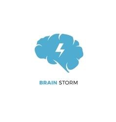 Brainstorming creative idea smart cloud vector image