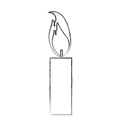 burning candle flame light icon vector image