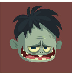 cartoon image of a funny gray zombie vector image vector image
