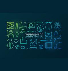 design outline bright banner vector image
