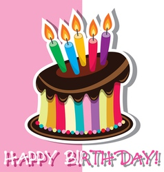 birthday chocolate cake vector image vector image