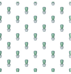 Cactoideae cactus pattern seamless vector