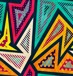 hipster geometric seamless pattern vector image