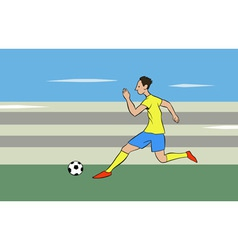 running with the ball vector image vector image