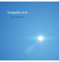 Summer Sun Sky Background vector image