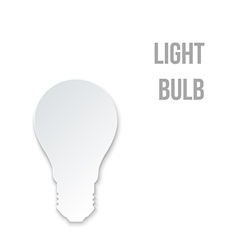 Abstract Paper Light Bulb vector image