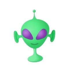 Alien icon in cartoon style vector image vector image