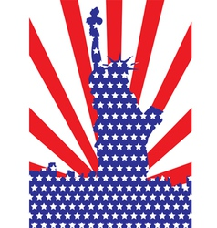 America Liberty or 4th of July independent day vector image vector image