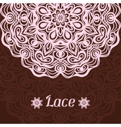 Background with hand drawn ornamental round lace vector image