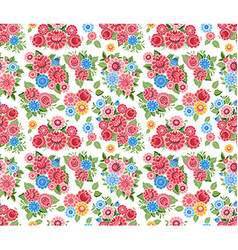 fancy seamless texture with stylized tiny flowers vector image vector image