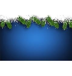 Fir and snow christmas frame vector image vector image