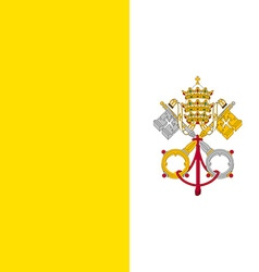 Flag of Vatican city vector image vector image