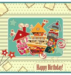 happy birthday vintage vector image