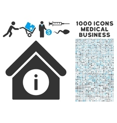 Info Building Icon with 1000 Medical Business vector image