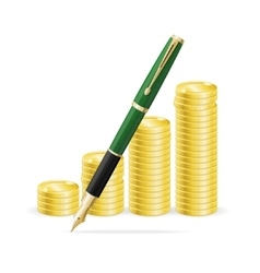 Money and Pen Business Concept vector image vector image