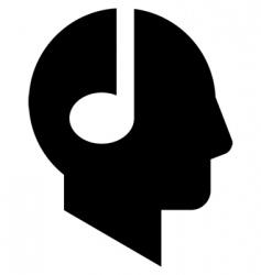 note head vector image vector image