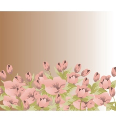 Tulips flower composition vector image vector image
