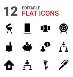 12 conceptual icons vector