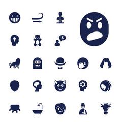 22 head icons vector