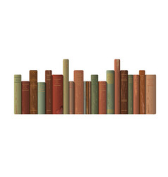 A row of old books vector