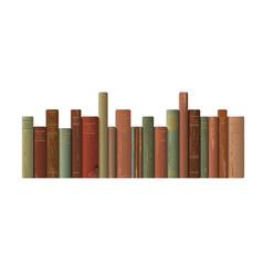 A row old books vector